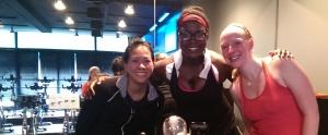 Li, Grace and I - Sweaty spinners!